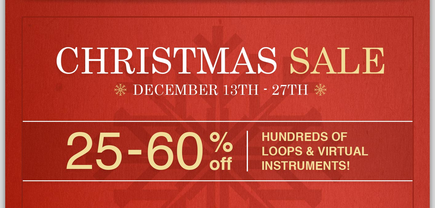 BigFish Audio Christmas Sale 25-60% Off!