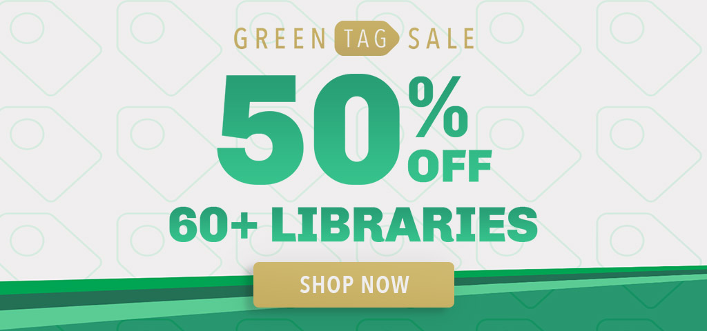 Green Tag Sale 50% Off