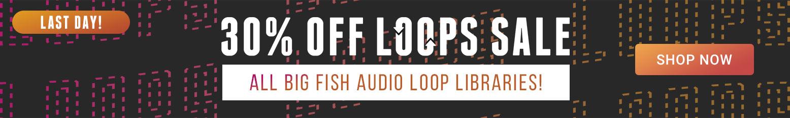 Big Fish Audio 30% Off Loops Sale