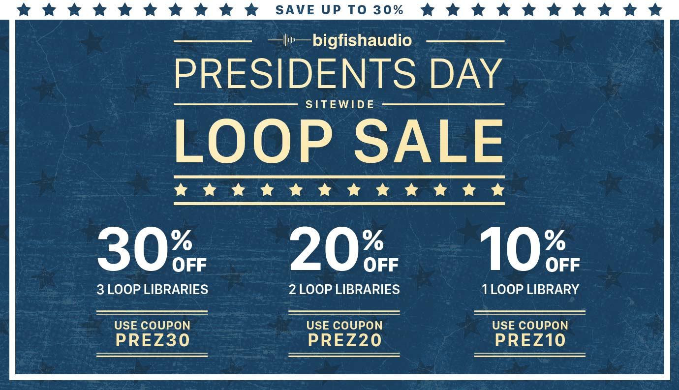 Big Fish Audio Presidents Day Sale