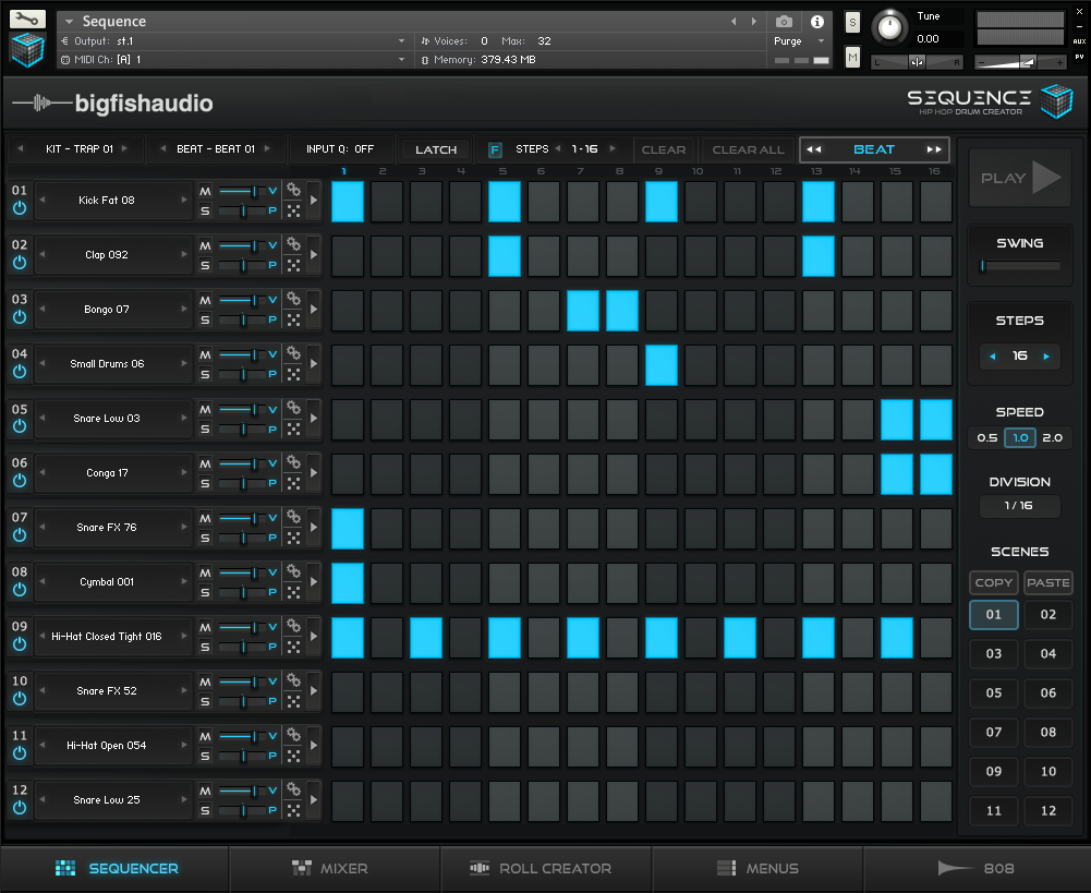 Big Fish Audio Sequence GUI 1