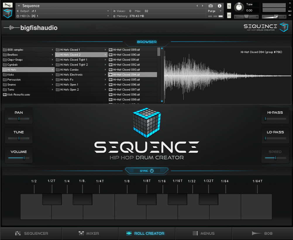 Big Fish Audio Sequence GUI 3