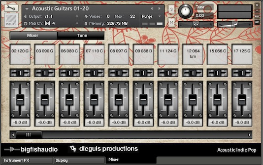 مجموعه قطعات ساخت موسیقی Big Fish Audio Acoustic Indie Pop 4